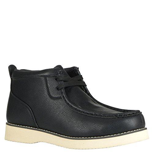 Lugz Mens Freeman Mode Sneaker Noir / Crème Perma Peau