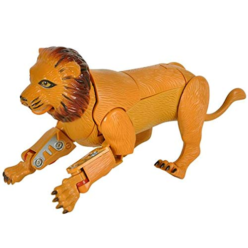 "Forest & Twelfth 5"" Lion Animal Toys - Transforming Action Figure - Changes from a Detailed Animal Toy to a Unique Robot Toy in Seconds - Great Gift for Both Girls and Boys (Lion)"