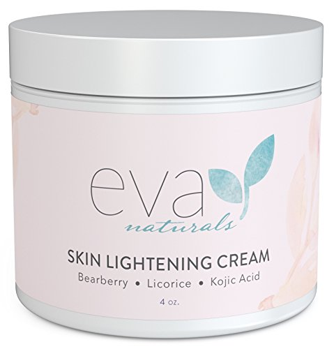 - Skin Lightening Cream by Eva Naturals (4 oz) - Hyperpigmentation Cream for Dark Spots on Face and Neck - Helps Boost Collagen Production and Brighten Complexion - With Bearberry, Licorice, Kojic Acid