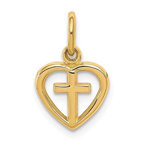 14K Yellow Gold Cross In...
