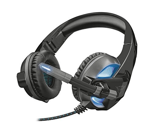 Trust Gaming GXT 410 Rune - Auriculares Gaming para PC con iluminació n, Color Negro 22896
