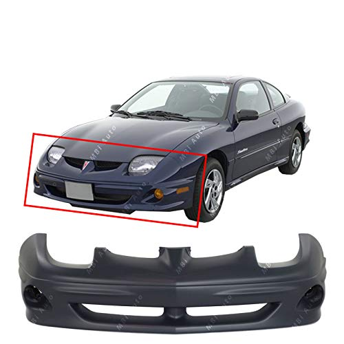 (MBI AUTO - Primered, Front Bumper Cover Replacement Fascia for 2000 2001 2002 Pontiac Sunfire 00 01 02, GM1000595)