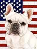 Best of Breed French Bulldog (White): Indoor/Outdoor House Flag (Patriotic II Series) 12 x For Sale