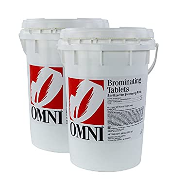 Omni 1-Inch Swimming Pool and Spa Bromine Solid Tablets (100 Lbs)