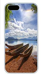Anchored to the shore Custom iPhone 5s/5 Case Cover Polycarbonate White