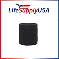 Foam Sleeve Filter fits Shop Vac 90585 9058500 Type R 905-85 + most Shop-Vacs by LifeSupplyUSA