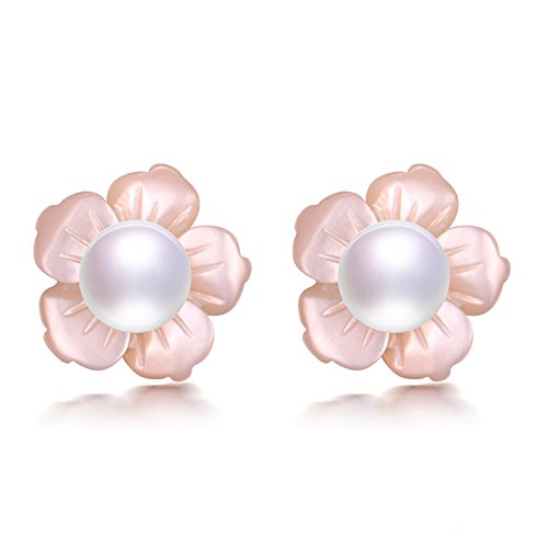 SuperLouisa Fashion colorful AAAA bread round pearl trend stud earrings jewelry - Tiffany Outlet N Co