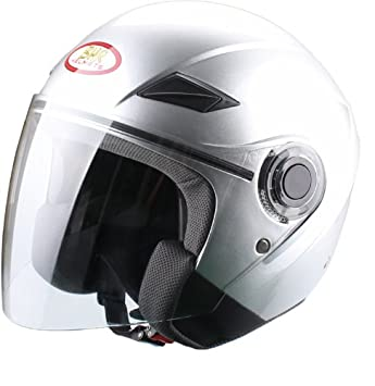 BHR 49865 Demi-Jet Casco, Color Plata, Talla L, 59-60