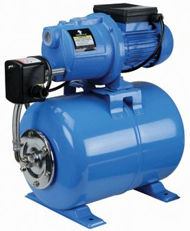 3/4 Horsepower Shallow Well Booster Pump with Cast Iron Housing and 5 Gallon Hardened Steel Alloy Tank