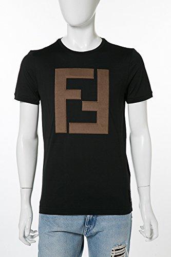 (フェンディー) FENDI Tシャツ ブラック メンズ (FY0894 A2BN) 【並行輸入品】 B079TM267X M|ブラック ブラック M