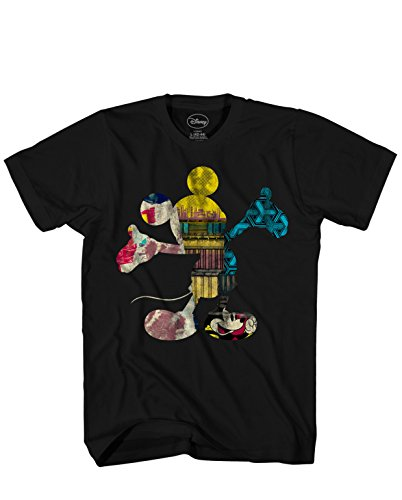 Disney Fill Me Mickey Mouse Adult Mens T-Shirt Black]()