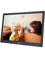 Digitale fotolijst, 15 inch digitale fotolijst 1280 x 800 cm hoge resolutie met touch-knop, wekker, filmlezer