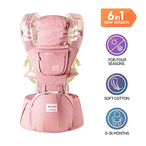 Soho Baby Carrier Dallas Backpack Front and Back All Carry Positions Newborn to Toddler Cover Carrier (Pink)