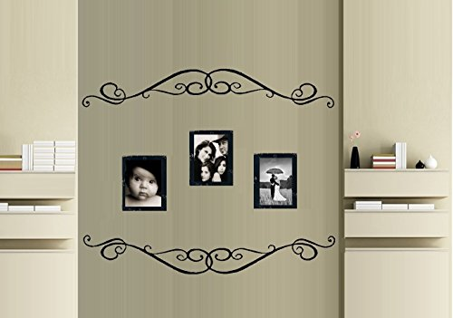 "Scroll Border #639 ~ WALL or GLASS DECAL qty 2- 6"" x 39"" Eac"