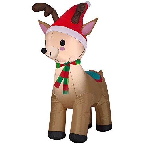 Airblown Christmas Holiday Blow Up Decoration Inflatable Reindeer 3.5 Feet (1)