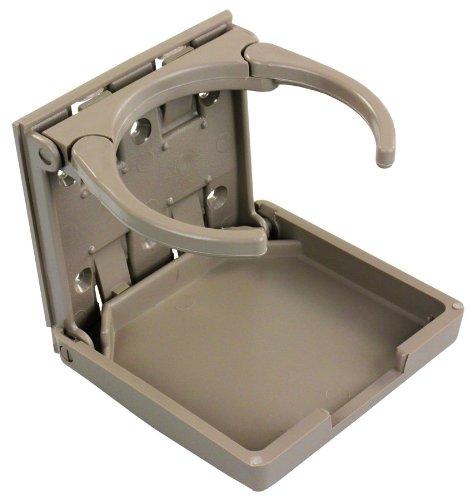 Holder Drink Folding - JR Products 45623 Tan Adjustable Cup Holder