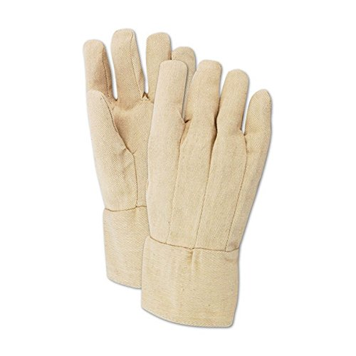 Poly Cotton Canvas Gloves - Magid Glove & Safety T89BT-AMZN MultiMaster T89BT Canvas Gloves with Band Top Cuff, 8 oz, Cotton Poly Blend, Men's (Fits Large), Natural (Pack of 12)