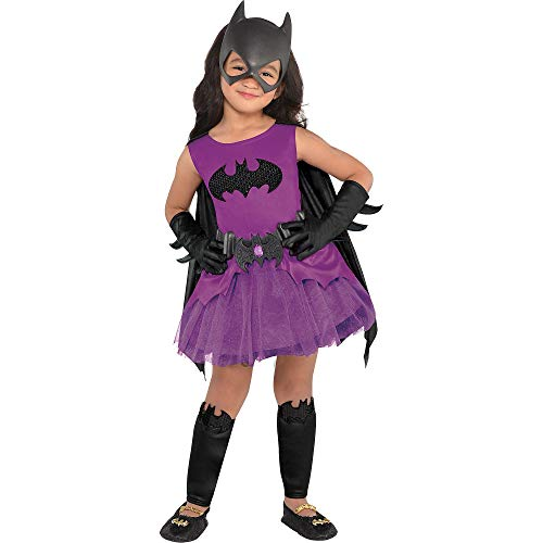 Suit Yourself Purple Batgirl Halloween Costume for Toddler Girls, Batman, 3-4T, Includes Accessories ()