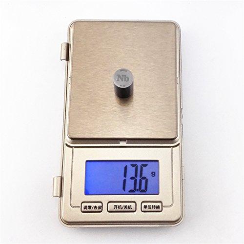 Niobium Metal Rod 99.95% 13grams 10Diameterx20mm Length Element Nb specimen Metals & Alloys