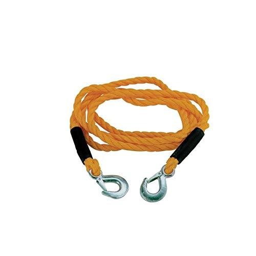Cable corde de traction et de remorquage avec mousqueton 2 tonnes PERALINE