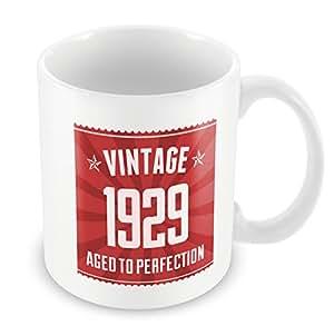 Rojo 1929taza de cumpleaños 29