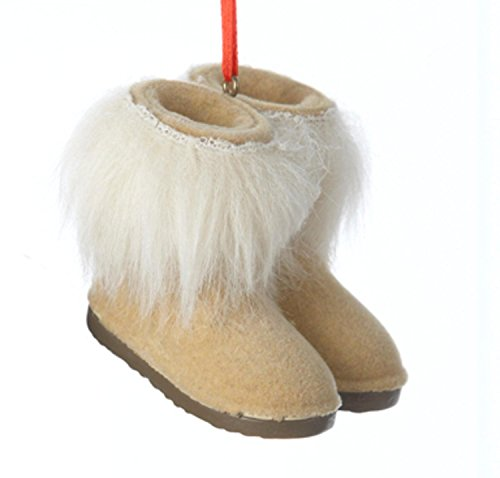 Faux Fur Christmas Boot - 9