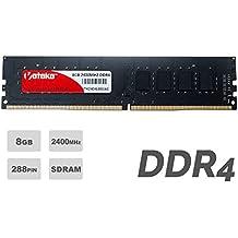 Veteke Performance RAM 8GB DDR4 2400MHZ PC4-19200 CL17 288-PIN DIMM | Memória para Desktops | Execute vários programas ao mesmo tempo & Aumente o desempenho