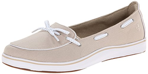 Grasshoppers Women's Windham Slip-On, Stone, 9 XW US