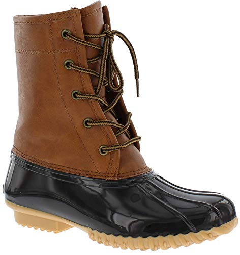 Sporto Womens Attina Original Duck Boot, Tan/Brown, 8 M US