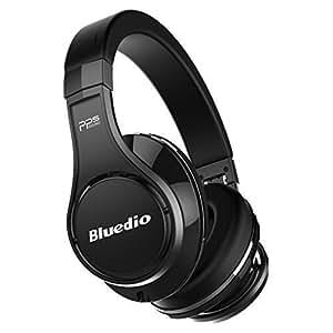 Bluedio U (UFO) auriculares bluetooth inalámbricos PPS 8 con micrófono integrado y ocho altavoces (Negro)