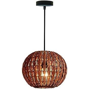 Amazon siminda tropical bamboo chandelier diy wicker rattan haixiang tropical bamboo chandelier diy wicker rattan lamp shades weave hanging light round aloadofball Images