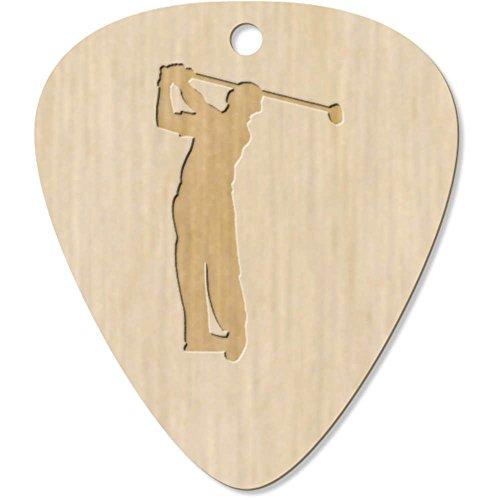 Azeeda 7 x 'Golfer Silhouette' Guitar Picks / Pendants -