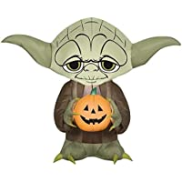 Gemmy 3 Ft Industries Yard Inflatables Yoda with Pumpkin