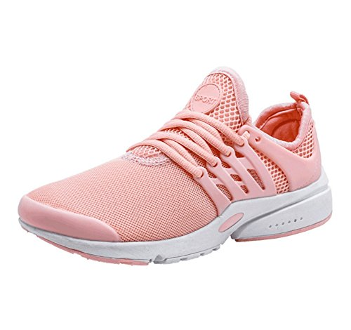 XIE Zapatos Deportivos de Malla de Primavera y Verano, Ligeros, Transpirables, Ocasionales, de Absorción de Golpes, Zapatos Deportivos de Mujer de Talla Grande 36-39 Pink