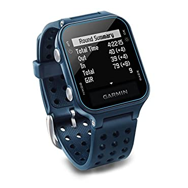 Garmin Approach S20, GPS Golf Watch with Step Tracking, Preloaded Courses, Midnight Teal