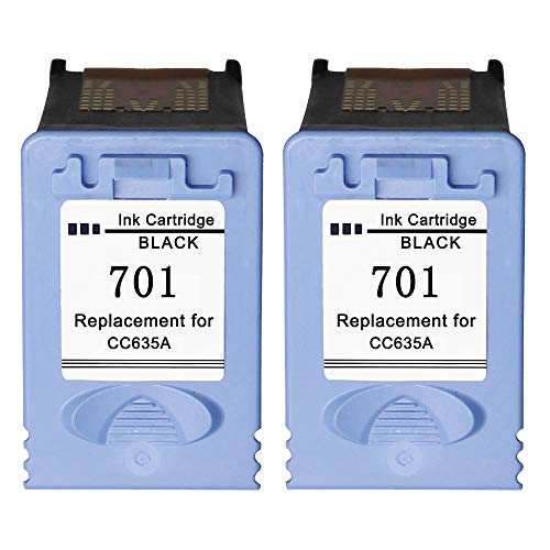 Remanufactured for hp 701 CC635A Ink Cartridge for HP 701 fax Ink Cartridge for hp 701 Black Ink Cartridge use with HP Fax 640 650 2140 (2 ()