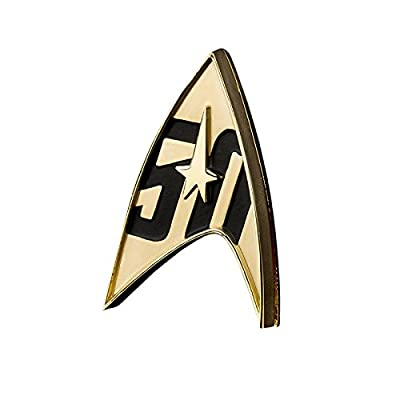 QMx Star Trek 50th Anniversary Magnetic Badge: Toys & Games
