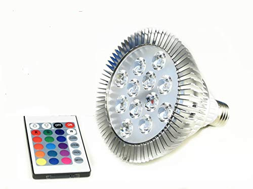 Led Republic Best quality 14 Watt RGB LED PAR 38 Remote Control Light Color Changing Bulb(-Memory) by LED Republic