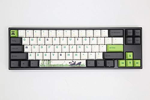 Ducky Miya Pro Panda White LED 60% Dye Sub PBT Mechanical Keyboard (Cherry MX Red)