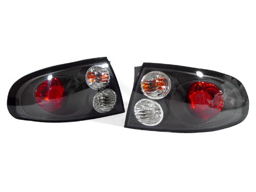 DEPO 2004-2006 Pontiac GTO Red / Black Housing Clear Lens Rear Tail Light ()