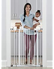 Regalo Easy Step Extra Tall Walk Thru Gate, Includes 4-Inch Extension Kit, 4 Pack of Pressure Mount Kit and 4 Pack of Wall Mount Kit