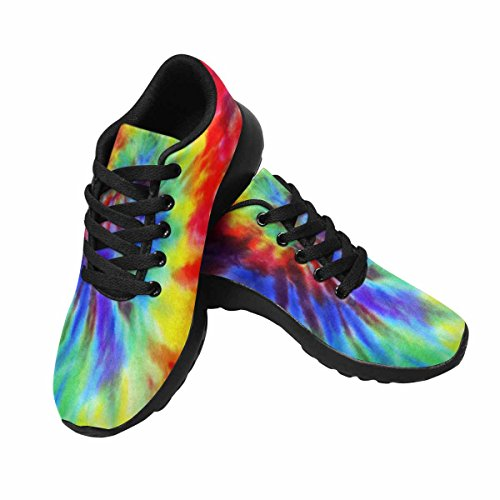InterestPrint Women's Casual Soft Sports Road Running Walking Shoes Tie Dye Fabric Background 9 B(M) US by InterestPrint