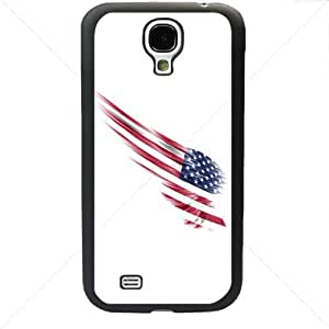 United States of America American Flag for Samsung Galaxy S4 SIV I9500 Soft Black or White case (Black)