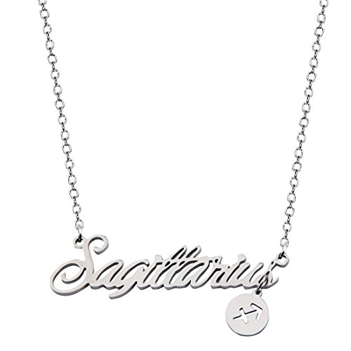(Best Bridesmaid Gift 12 Zodiac Sign Tag Constellation Horoscope Astrology Charm Pendant Necklace (Sagittarius Necklace) )