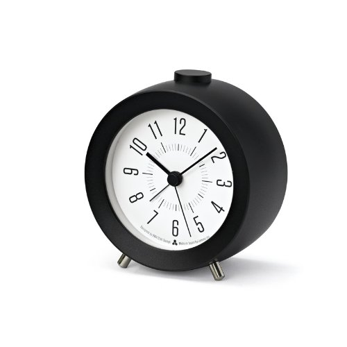 Lemnos JIJI alarm アラーム時計 ブラック AWA13-04 BK B00H8LJLFY ブラック ブラック