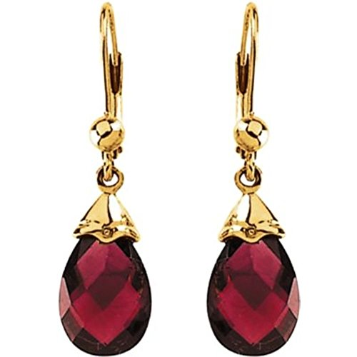Bonyak Jewelry Genuine Brazilian Garnet Briolette Earring...