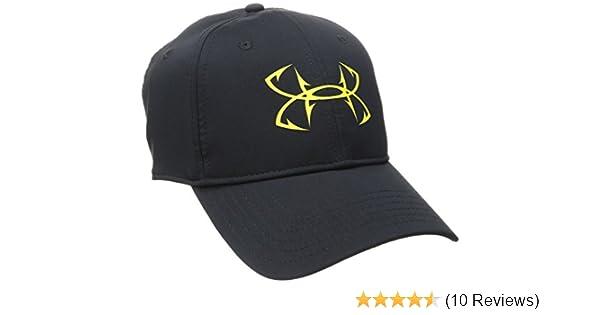 newest 511d0 6456e Amazon.com  Under Armour Men s Fish Hook Cap, Black (001) Lima Bean, One  Size Fits All  Clothing