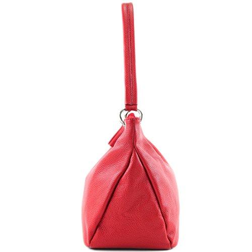en cuir cuir Sac ital véritable en Rouge bandoulière Sac à T154 bandoulière à Étui Modamoda qTEfRSPS