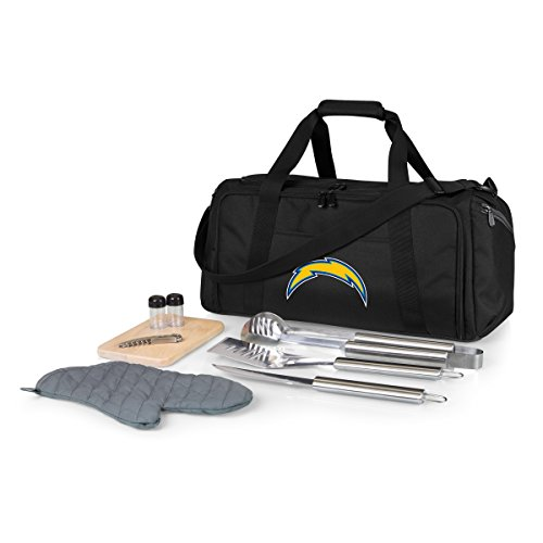 NFL Los Angeles Chargers BBQ Kit /Cooler Tote with Barbecue and Picnic Accessories by PICNIC TIME