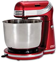 Dash Stand Mixer (Electric Mixer for Everyday Use): 6 Speed Stand Mixer with 3 qt Stainless Steel Mixing Bowl,
